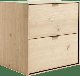 box 60 x 60 cm. - a suspendre + 2-tiroirs