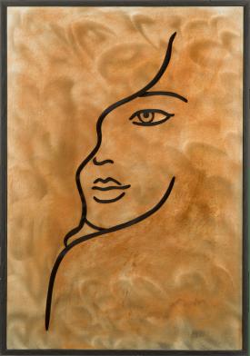 3d-wall face - 70 x 100 cm