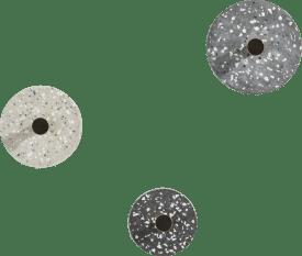 crochet terrazzo - set de 3 - anthracite / gris / beige