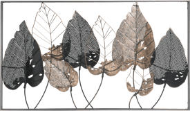 decoration murale falling leaves - 70 x 130 cm - cadre inclus