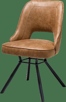 chaise - cadre noir + ressorts ensaches + poignee noir rond - secilia