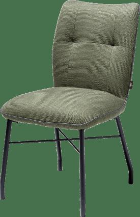 chaise + ressorts ensaches avec poignee en catania noir - tissu vito