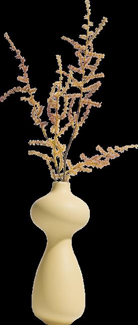 vase alice - height 36 cm - light yellow