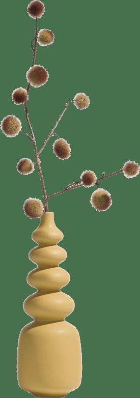 vase alicia - height 36 cm - ocher
