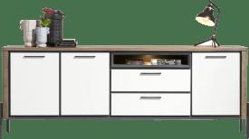 dressoir 240 cm - 3-deuren + 2-laden + 1-niche (+ led)