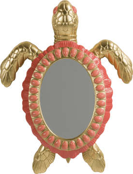 mirror turtle - 45,5 x 35 cm
