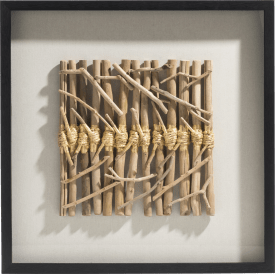 decoration murale en 3-d drift sticks - 70 x 70 cm