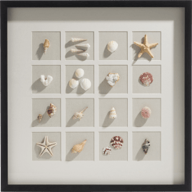 decoration murale en 3-d ocean treasures - 73 x 73 cm