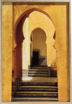 painting marrakech - 70 x 100 cm - print on glass