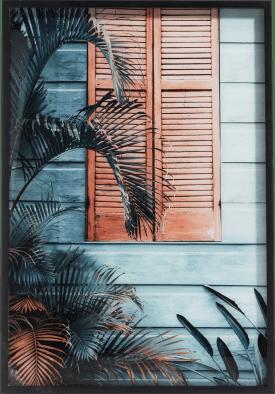 schilderij byron - 70 x 100 cm - print op glas