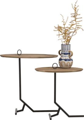 table d'appoint nylah - ensemble de 2 - hauteur 40 + 50 cm