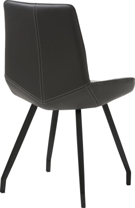 chaise - noir 4 pieds plie + cuir catania
