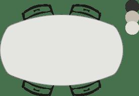 bartafel - ovaal - 190 x 110 cm (hoogte: 92 cm)