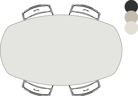 tresentisch - oval - 190 x 110 cm (hoehe: 92 cm)