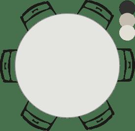 tresentisch - rund - 150 cm (hoehe: 92 cm)