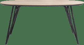 table de bar ovale 220 x 120 cm. (hauteur: 92 cm.)