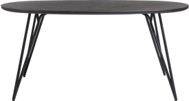 bartafel ovaal 220 x 120 cm. (hoogte: 92 cm.)