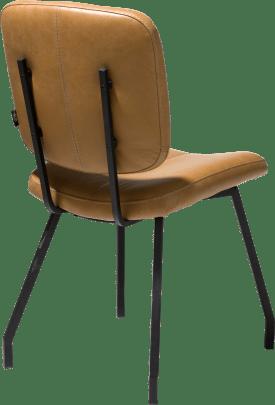 chaise avec pieds noir - cuir peru