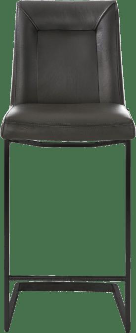 chaise bar -  metal noir - pied traineau carre avec poignee