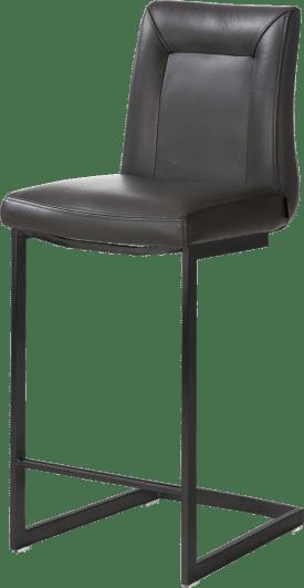 tresenstuhl - schwarz metall - swing viereckig