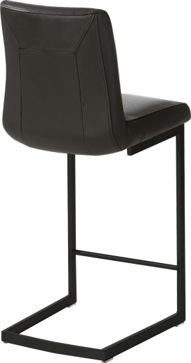 chaise bar -  metal noir - pied traineau carre