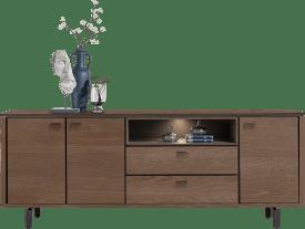 sideboard 210 cm. - 3-tueren + 2-laden + 1-nische