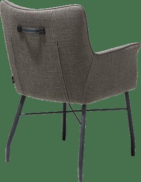 fauteuil + ressorts ensaches - avec poignee en catania noir - tissu vito