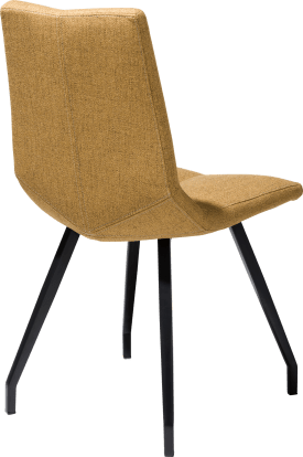 chair - 4 legs black - lavinia mustard / rust