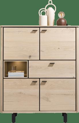 highboard 115 cm. - 4-deuren + 1-lade + 1-niche