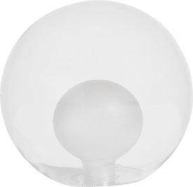 malin - ersatzglas - 15 cm transparent / grau / anthrazit