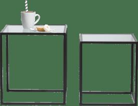 felix set of 2 side tables h45-40cm