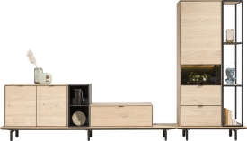 set van 2 - metalen u-poot + 2 x middenpoot (lowboards & dressoirs)