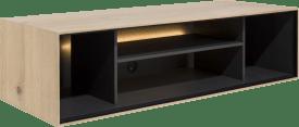box 30 x 120 cm. - hout - hang + 4-niches + led