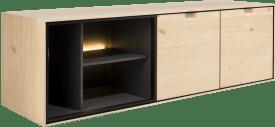lowboard 150 cm. - a suspendre + 2-portes + 3-niches + led
