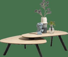 salontafelset - 90 x 90 cm + 110 x 60 cm
