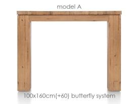 uitschuiftafel 160 (+ 60) x 100 cm - aad