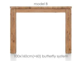 uitschuiftafel 160 (+ 60) x 100 cm - ben
