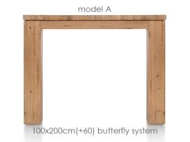 uitschuiftafel 200 (+ 60) x 100 cm - aad