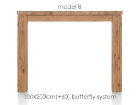 uitschuiftafel 200 (+ 60) x 100 cm - ben
