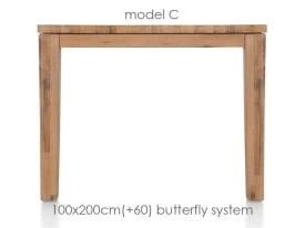 ausziehtisch 200 (+ 60) x 100 cm - cor