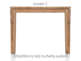 uitschuiftafel 200 (+ 60) x 100 cm - cor