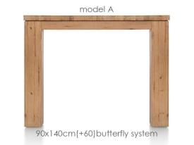 uitschuiftafel 140 (+ 60) x 90 cm - aad