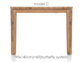 uitschuiftafel 140 (+ 60) x 90 cm - cor