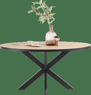 table ronde 130 x 110 cm
