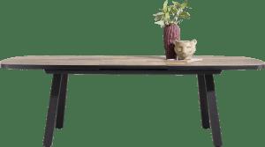 table a rallonge ovale 190 (+ 60) x 110 cm