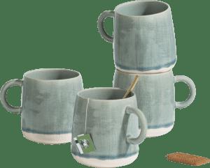 amalfi set of 4 mugs 450ml h9cm