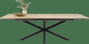 table a rallonge avec pied central 180 x 100 cm (+ 60 cm)