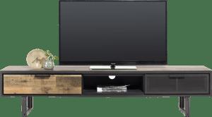 tv-dressoir 200 cm. - 2-laden + 1-niche