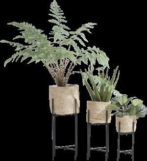 tulum set of 3 planters h67-53-41cm