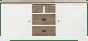 dressoir 190 cm - 2-deuren + 3-laden + 1-uitschuifplateau